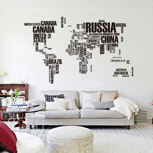 The 25 best giant world map ideas on pinterest maps map of thisnew interior190116 cm english words world map wall giant art decals pvc sciox Gallery