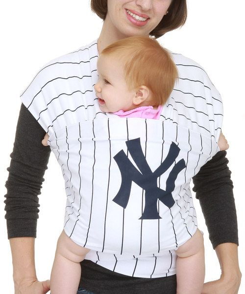 Take a look at the New York Yankees White Stripe Moby Wrap on #zulily today!
