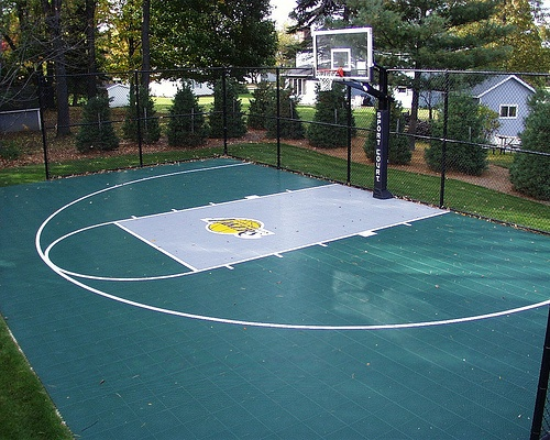 15 best images about backyard basketball court on for Build your own basketball court