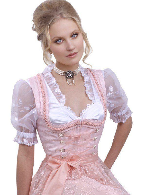 Dirndl zart Rosé/Melba - Set 3-teilig mit Bluse