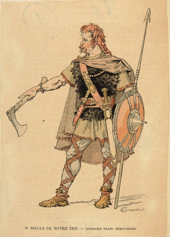 5th century AD, French Merovingian warrior.