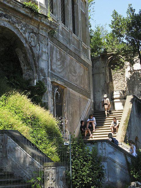 Walking up Palatine Hill - Rome