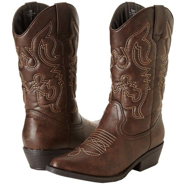 Gabriella Rocha Carlsbad Women's Pull-on Boots ($69) ❤ liked on Polyvore featuring shoes, boots, mid-calf boots, pointed toe cowgirl boots, pointed toe boots, mid calf cowboy boots, pointy toe boots and western boots