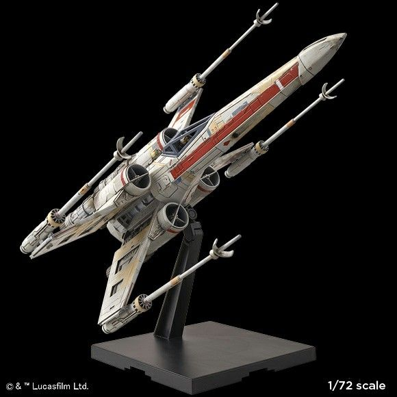 BANDAI STAR WARS 1/72 scale Plastic Model Kit RED SQUADRON X