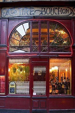 Lyon, Rhone Alps, France, Le Tire Bouchon Restaurant Old City Center, Vieux…