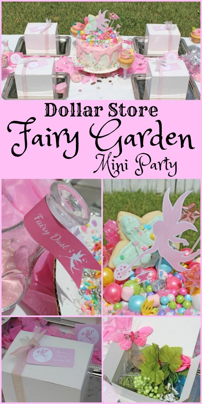 Dollar Fairy Garden Mini Party