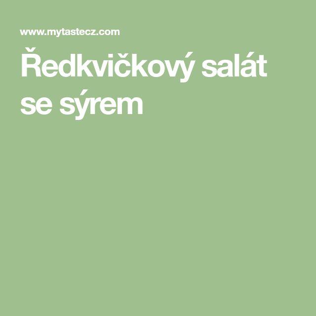 Ředkvičkový salát se sýrem