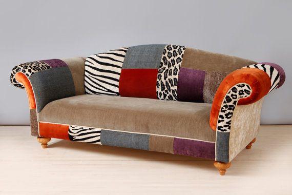 Canapé patchwork coloré