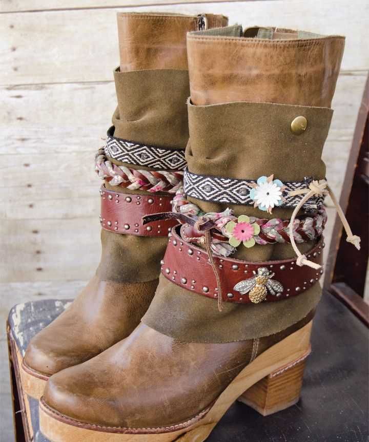 Discover Holly Kennedy's upcycled boot belts inside GreenCraft Magazine.