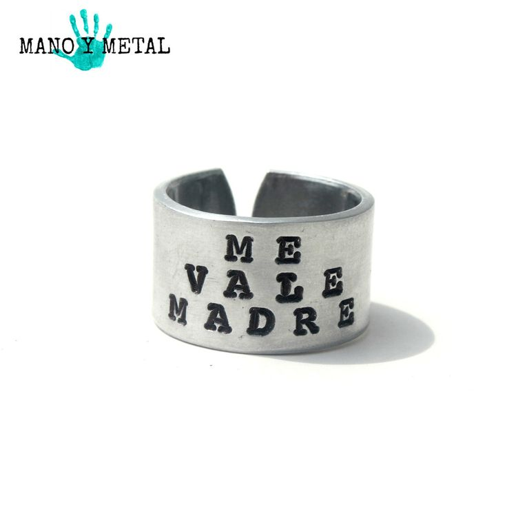 "Me Vale Madre // Hand Stamped ""I don't give a f*ck"""