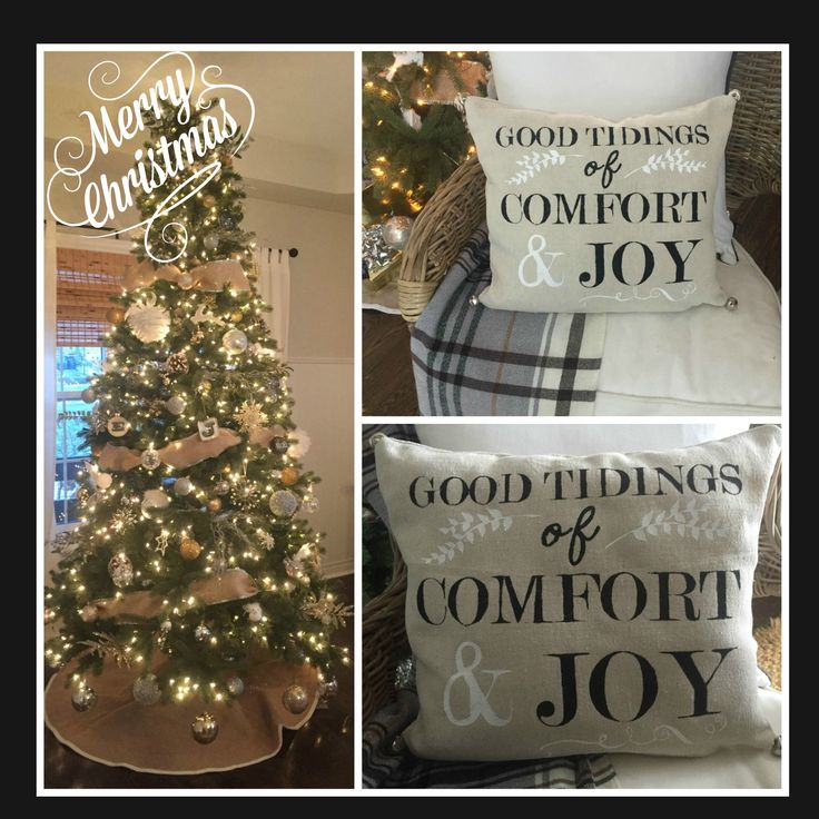 DIY Christmas Pillow.  Good Tidings Of Comfort & Joy