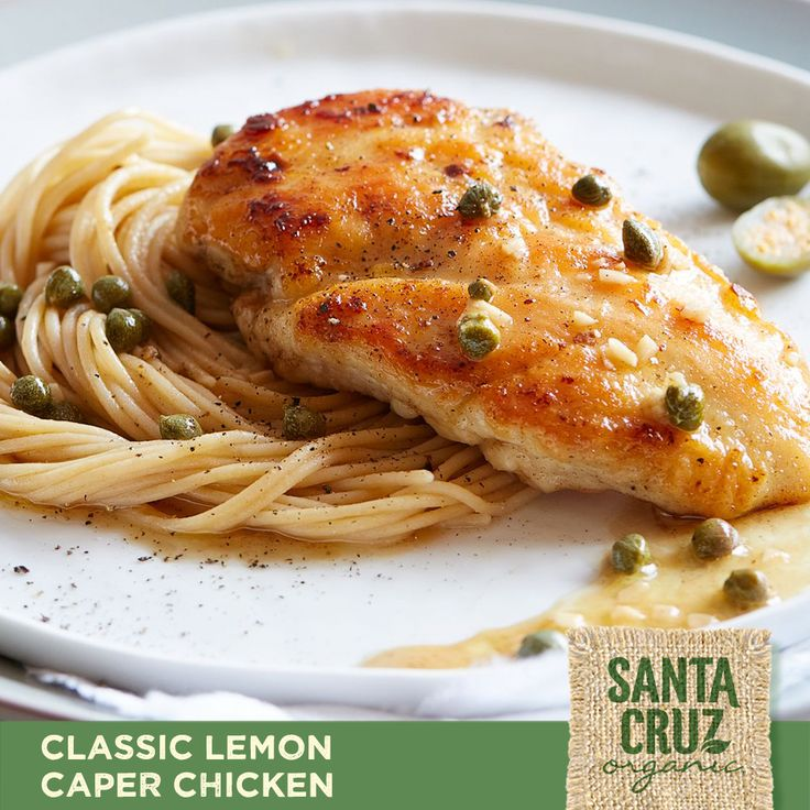 Tonight, dinner is golden with this delicious recipe for Classic Lemon Caper Chicken.