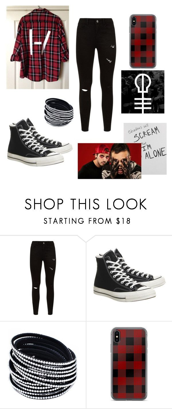 """""""Twenty one pilots"""" by awesomegoldfish ❤ liked on Polyvore featuring Converse"""