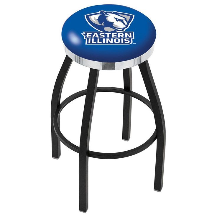 Eastern Illinois Panthers Swivel Stool Black w/ Chrome Accent