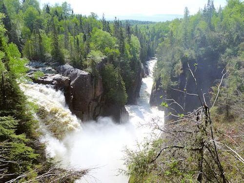 Aguasaban Falls Terrace Bay Ontario - just above MN