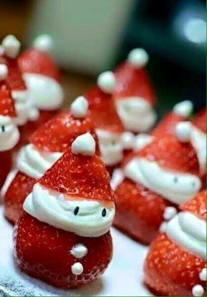 Kerstman aardbei