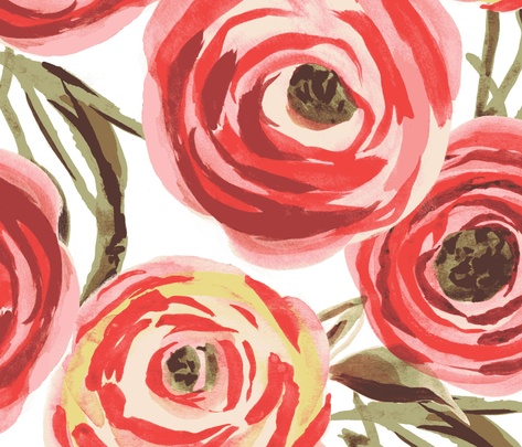 Fifties Rose fabric by lauram on Spoonflower - custom fabric: Fifty Rose, Chairs Fabrics, Art Ideas, Vintage Floral, Fabrics Rose, Red Rose, Rose Fabrics, Floral Fabrics, Colors Design Inspiration