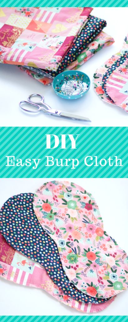 Baby Burp Cloth Pattern - Crazy Little Projects