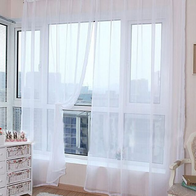 Простой дизайн тюль шторы для гостиной балкон прозрачный тюль окно Sheer Для Свадебные украшения спальни
