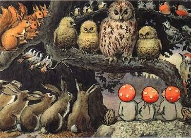 """""""Children of the Forest"""" Elsa Beskow So, I don't have any pics our first day back to school, but I had to write it all down to remem..."""
