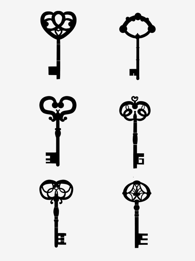 Vector Vintage Key Silhouette Vector Retro Key Png Transparent Clipart Image And Psd File For Free Download Vintage Keys Vintage Typography Graphic Design Background Templates