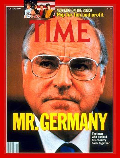 Helmut Kohl | July 30, 1990 German Chancellor Helmut Kohl