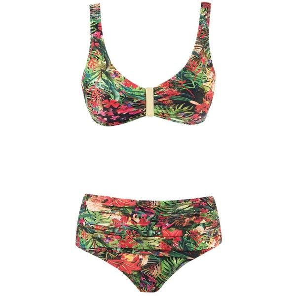 floral high waisted bikini - photo #13