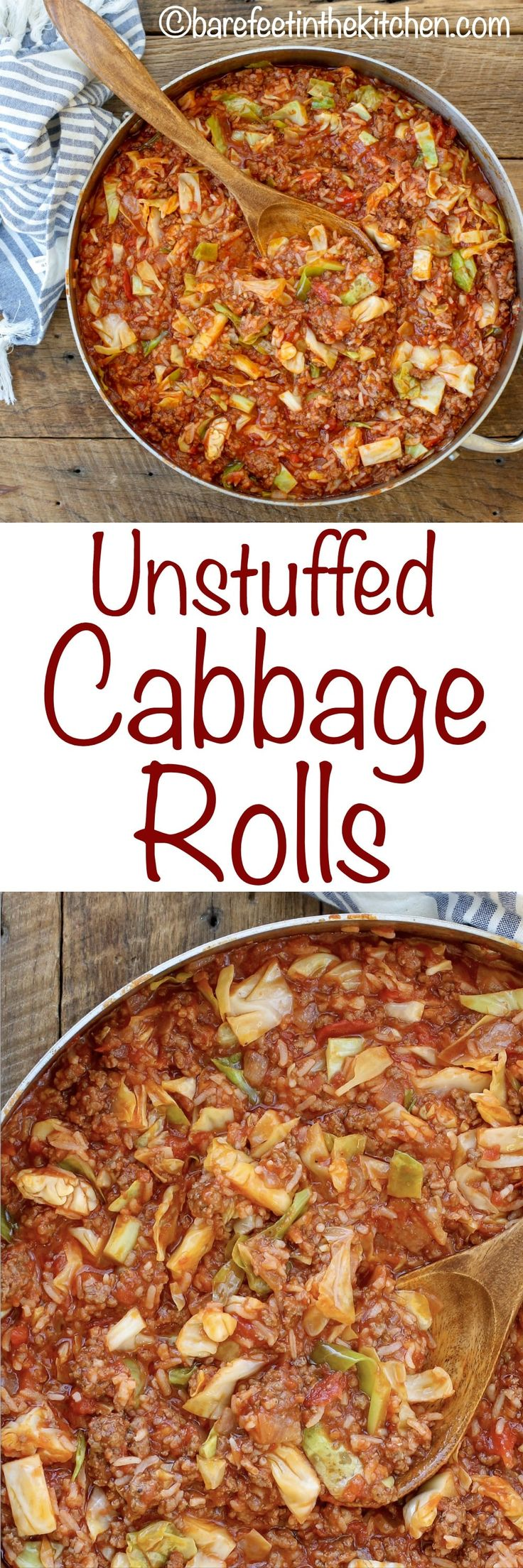 Unstuffed Cabbage Rolls are a 20 minute meal that tastes just like the classic cabbage rolls you love! get the recipe at barefeetinthekitchen.com