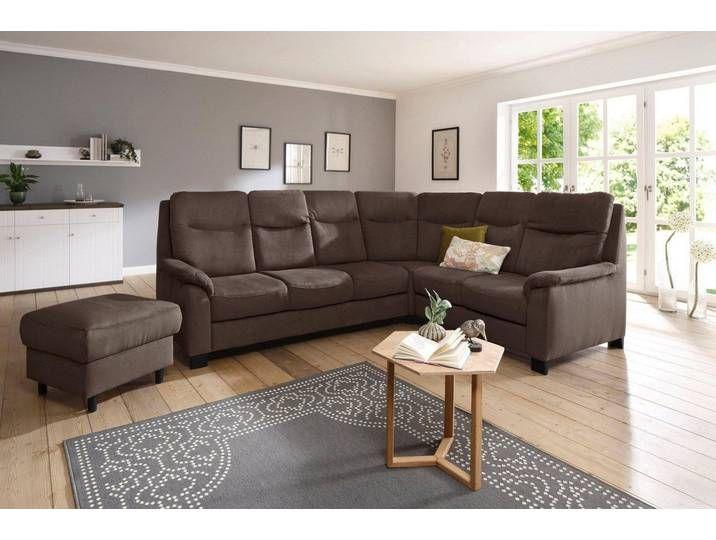 Home Affaire Eck Couch Braun 265cm Langer Schenkel Links Boc