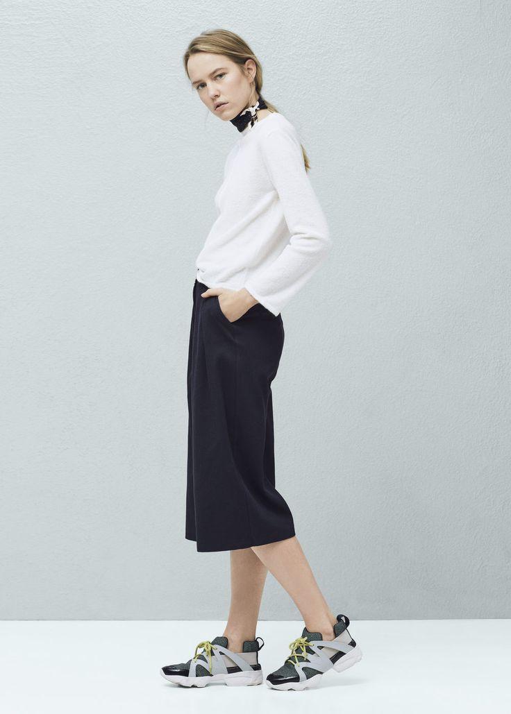 Katoenen crop broek - Broeken voor Dames | MANGO