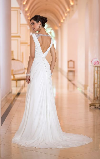 Wedding Dress | Chiffon Wedding Dress | Stella York ❤️❤️❤️ the back of the one I was obsessing over ❤️❤️❤️