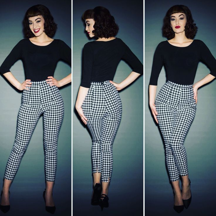 cool Houndstooth Cigarette Pants are back in stock!...