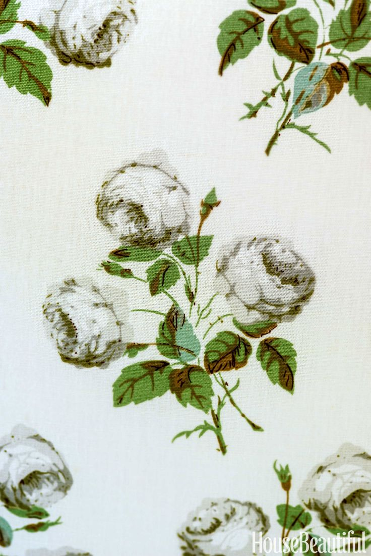 Love this chintz fabric for our bedroom - the perfect compliment to white linens and dark woods