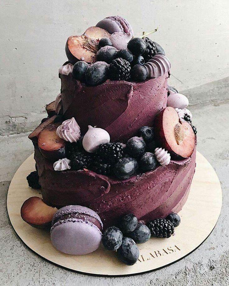 Cake frutos rojos durazno