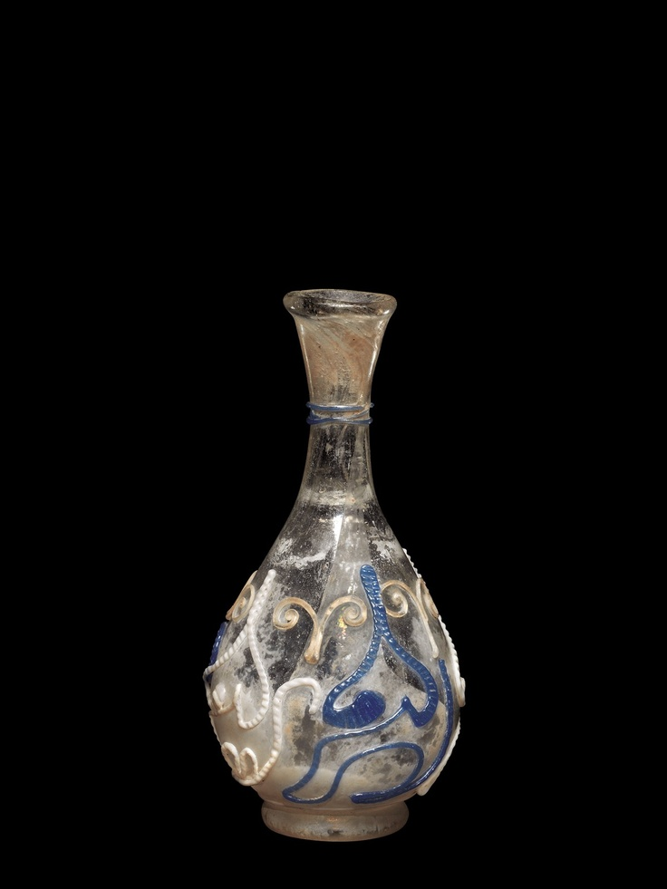 Roman Glass: Bottle with Snake-thread Decoration, 100-299 | Corning Museum of Glass