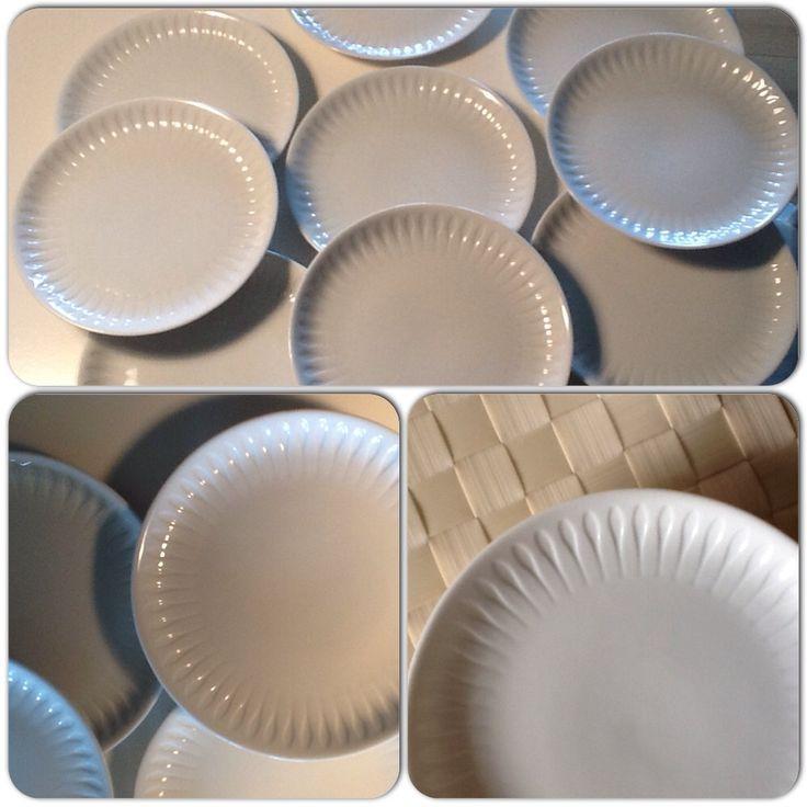 "Porcelæn, Kage/dessert tallerken , Porsgrund "" Spire"" formgivet af Konrad Galaaen."