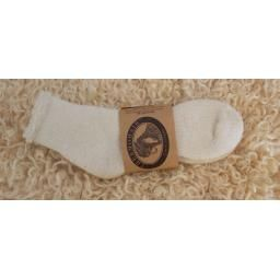 Mohair Sock, Anklet, Natural, Ladies: This anklet style sock by Thermohair provides comfort and warmth. Made in Canada.