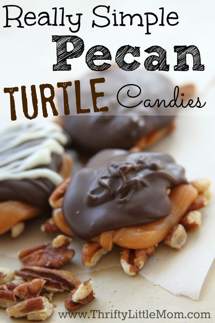 This is a really simple pecan turtle candies recipe. Make amazing gifts for your friends, neighbors or teachers with this simple tutorial.  Candy ingredients provided by Chocoley. #sponsored