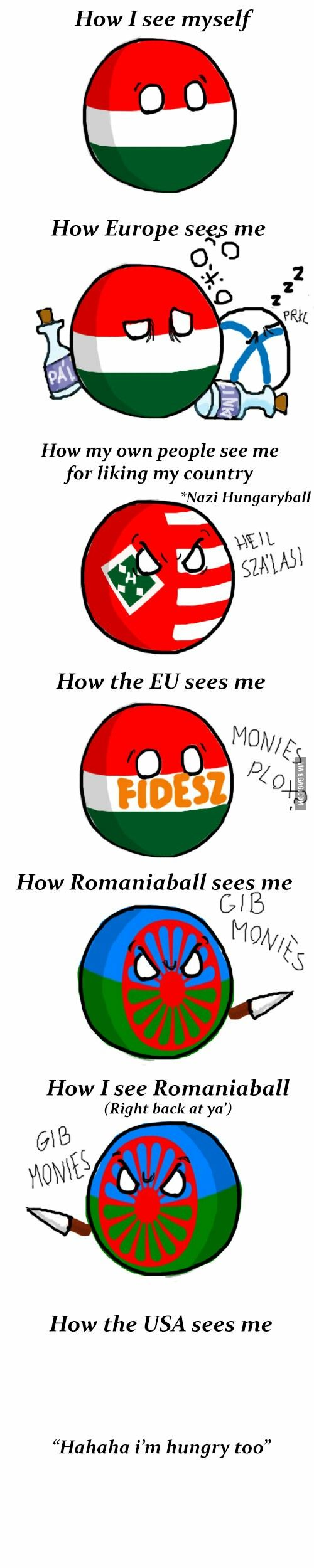 Me meaning of polish flag - Hungaryball