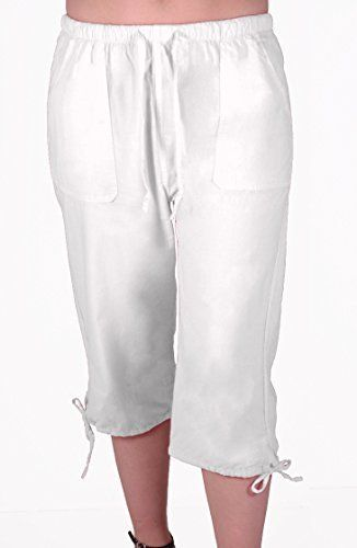 Oregon Womens Capri Crop Shorts Pants Ladies 3/4 Cropped Trousers