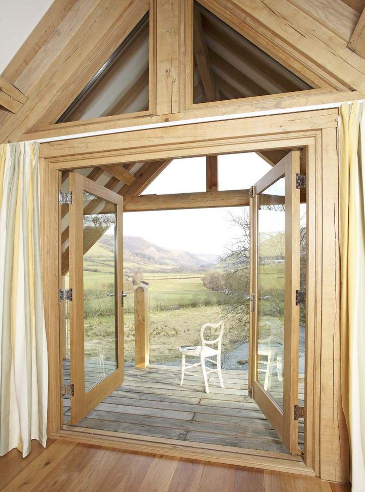 Beautiful view framed with green oak. #window #oak #greenoak #welshoakframe #oakframe #glazing #balcony #view #home #relax #housegoals #dream #dreamhome