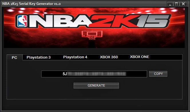 NBA 2K15 Serial Key Generator v1.0 (PC, PS3/4 & Xbox 360