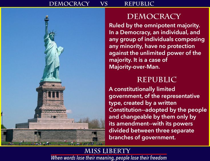 america democracy or republic We have reached the point at which almost every american is involuntarily subservient to nation from a constitutional republic to a majority-rule democracy.