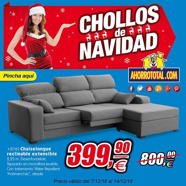 Llegan los Chollos de Navidad a Ahorro Total.  Chaiselongue reclinable y extensible por solo 399,90€ antes 800€  ¿A qué esperas? Encuéntralo en nuestra sección de Chollos      #chollos #ofertas #navidad #ahorro #muebles