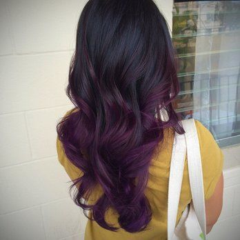 Balayage Morado, Pretty Pelo, Peinados Femeninos, Ombré Púrpura, Pelo Púrpura Oscuro Con Marrón, Púrpura, Cabello, Black Purple Hair Color, Dark Hair With