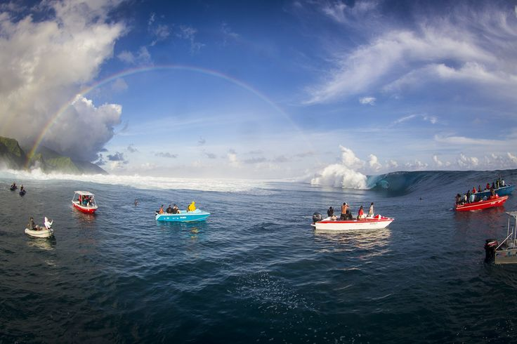 Another day of massive, pumping Teahupoo.