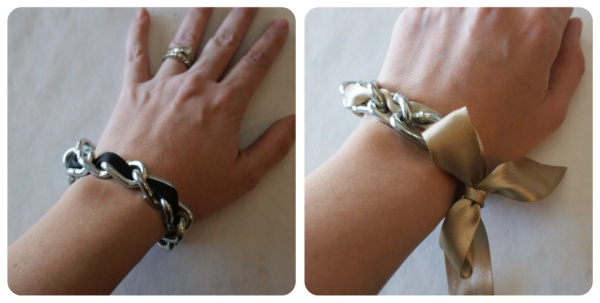 ribbon and chain bracelets: Bracelets Tutorials, Chain Bracelets, Diy Fashion, Diy Crafts, Diy Chains, Chains Ribbons Bracelets, Love Bracelets, Chains Bracelets I, Diy Ribbons