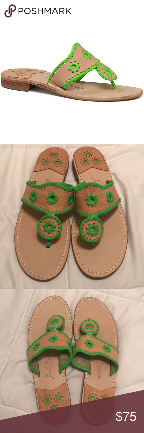 NEVER WORN Jack Rogers Vachetta Neon Sandal NEVER WORN Jack Rogers Vachetta Neon Green Sandals. Size 8. Great Christmas gift! Jack Rogers Shoes Sandals