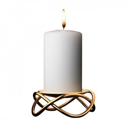 Glow Candleholder Gold Plated