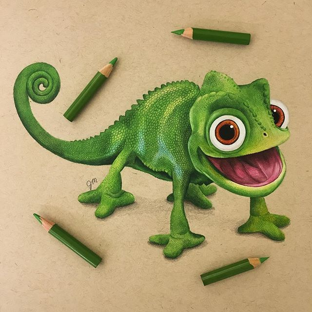 I went through so much green for this piece! My Prismacolors kept breaking but I'm really happy with the final outcome. Pascal looks happy too :) #pascal #tangled #disney #prismacolor #disneyarts #disneyartfeatures #drawing #disneyartspotlightfeature #coloredpencils #worldofpencils #cre8hype #arts_help #ProArtists #sketch_daily #assemble_art #artsanity #nawden #arts_gallery #artofdrawingg  #worldofartists #instartpics #spotlightonartists #creativeempire #art_spotlight #cartoonarts